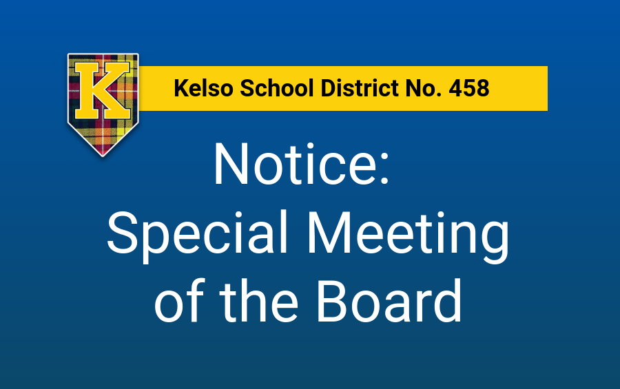 Notice: Special Meeting of the Board