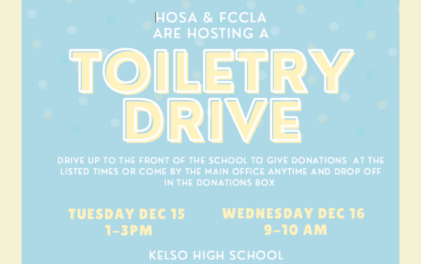 KHS Toiletry Drive
