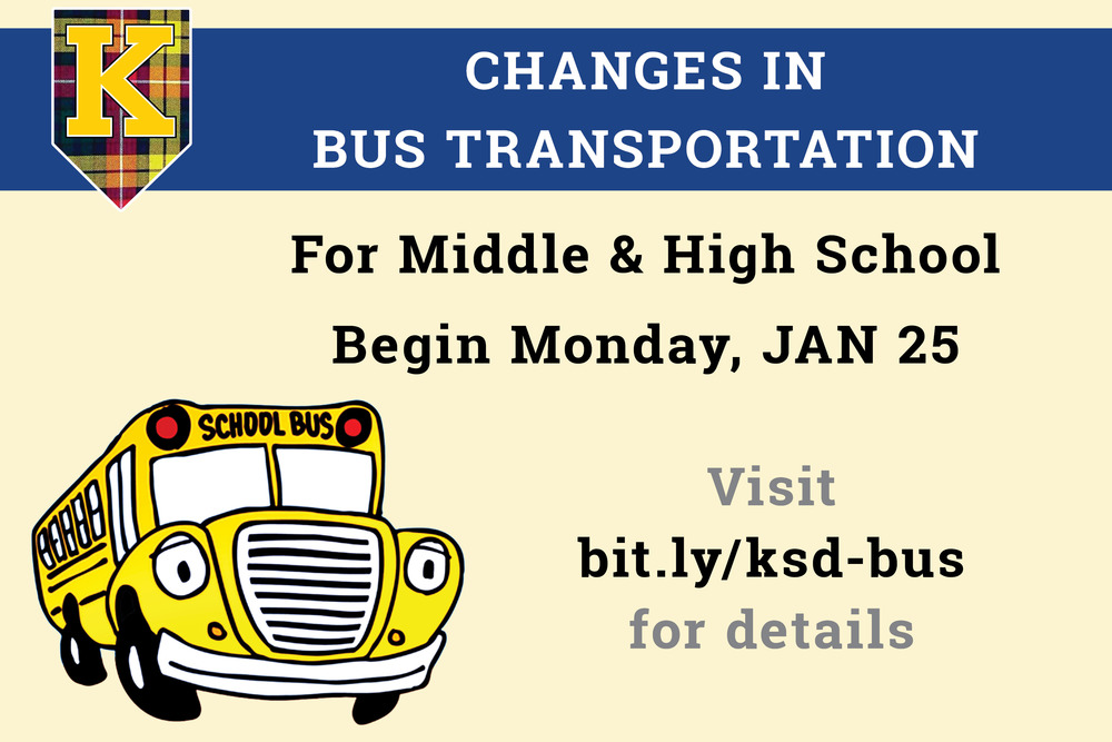 Bus Transportation Changes for Middle and High School