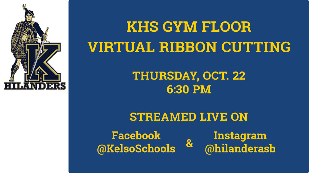 Virtual Ribbon Cutting for Kelso High Gymnasium