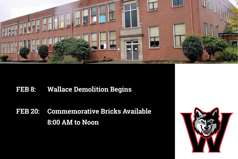 Demolition on Old Wallace School Building to Begin February 8