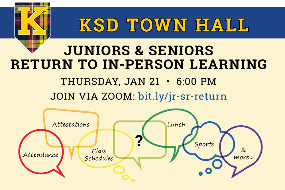 Town hall webinar for juniors and seniors