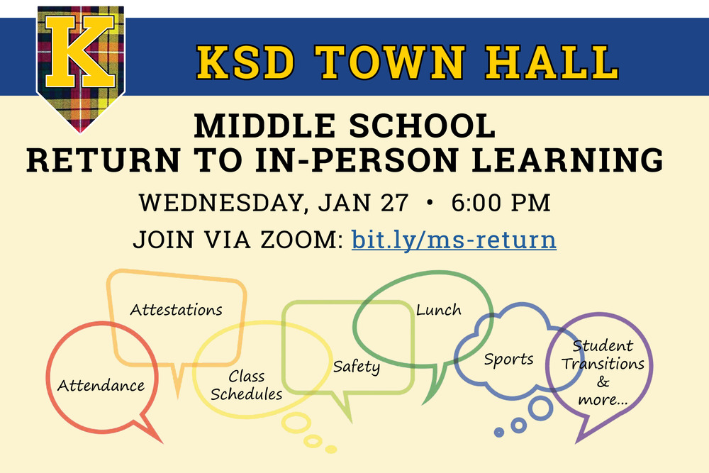 Town hall webinar for middle school