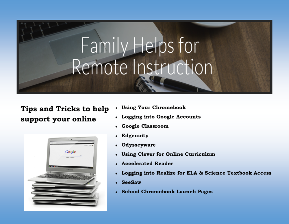 Family Helps for Remote Learning