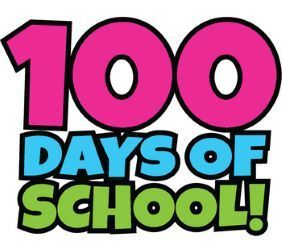 the words 100 Days of School