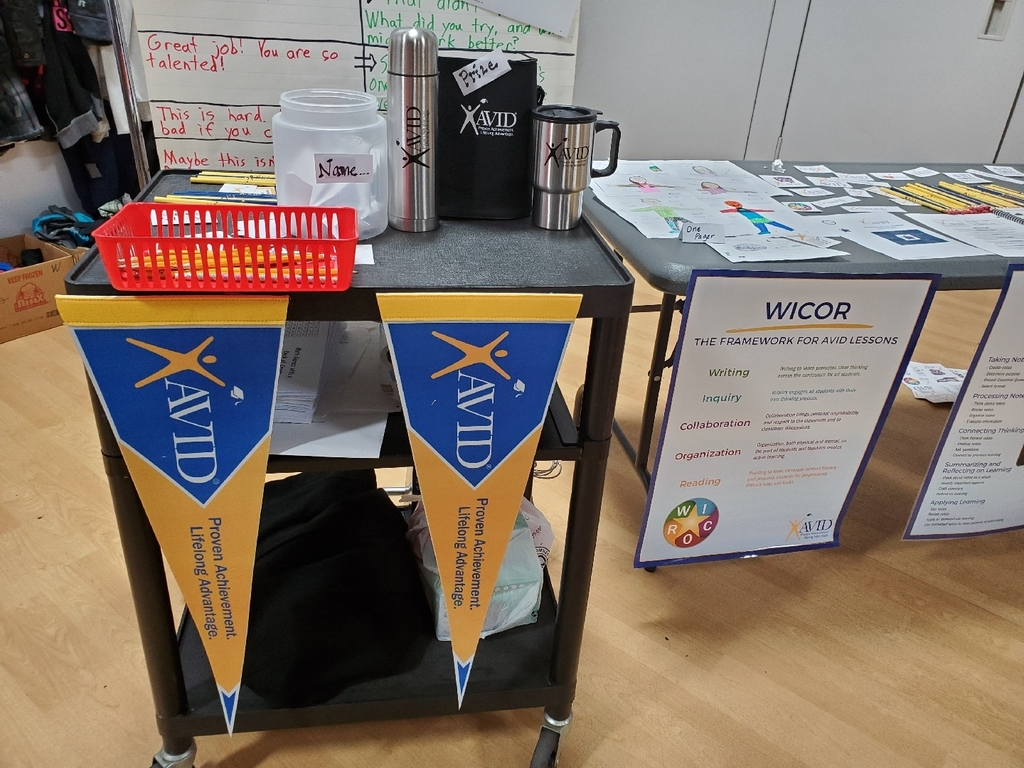 AVID prize table